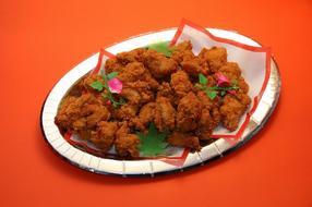 鶏の唐揚皿